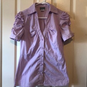 Small purple button up